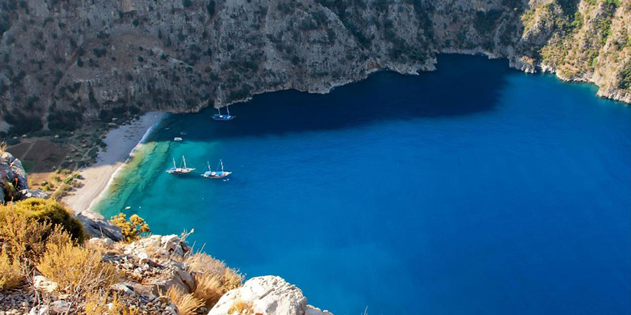 charter yacht to Butterfly Valley, Turkey