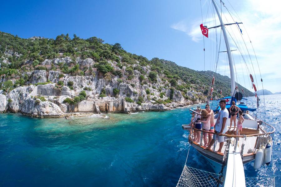 yacht charter life in Fethiye, Turkey