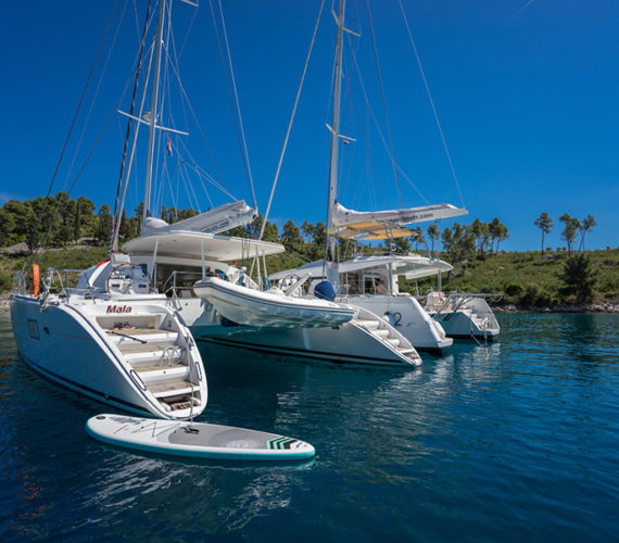 Charter the Spacious Catamaran 570: Experience Leisure in Water
