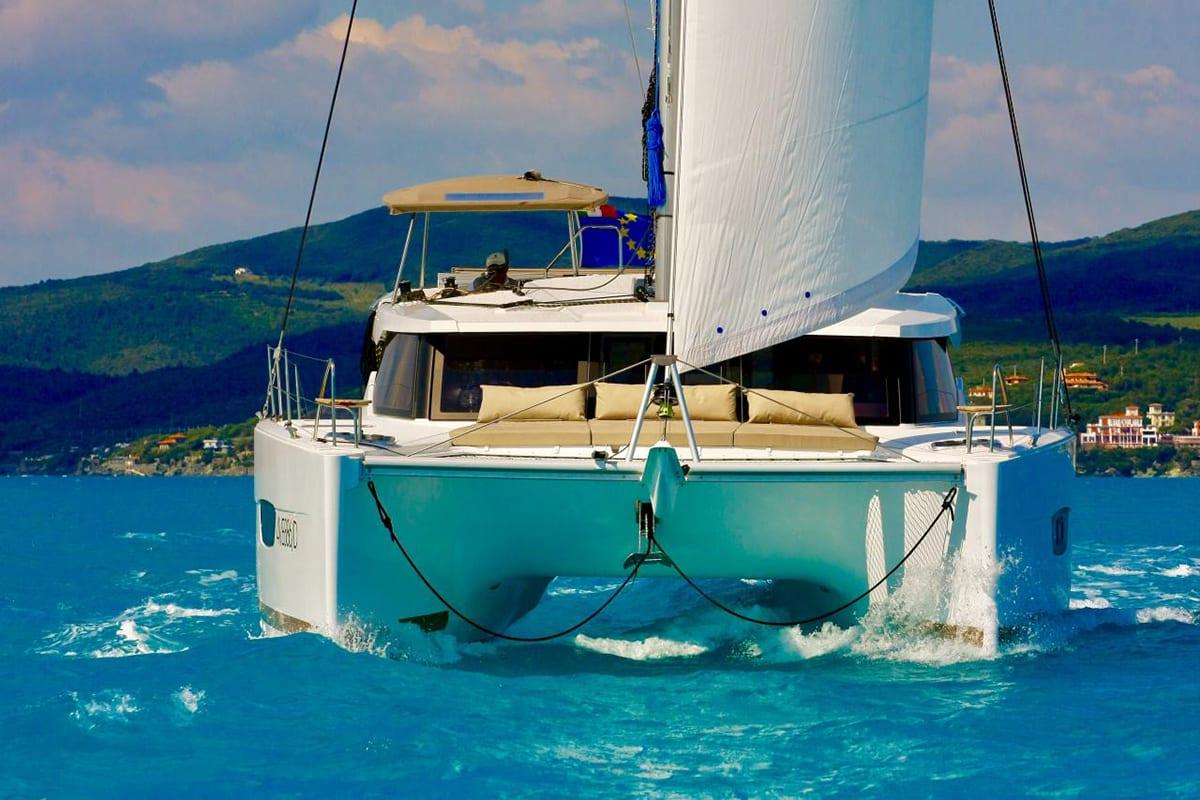 catamaran charter in Italy