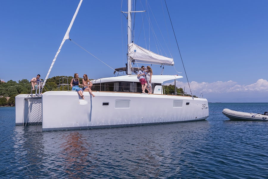 catamaran charter in greece