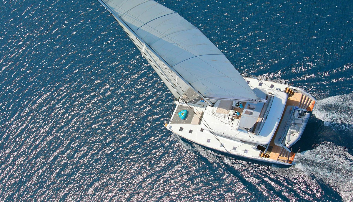 charter a catamaran greece
