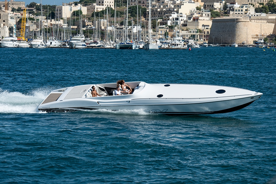 power boat charter malta