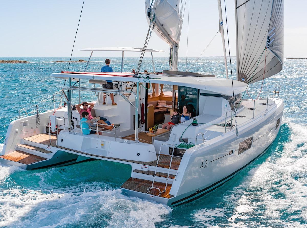 charter a catamaran in spain