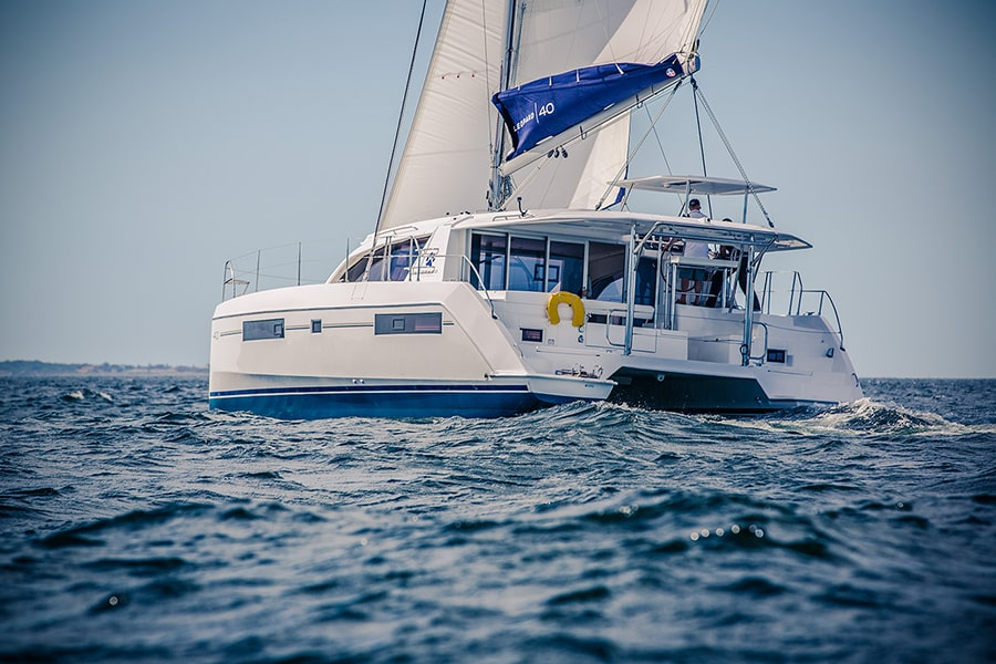 Catamaran Leopard 40 sailing in turkey