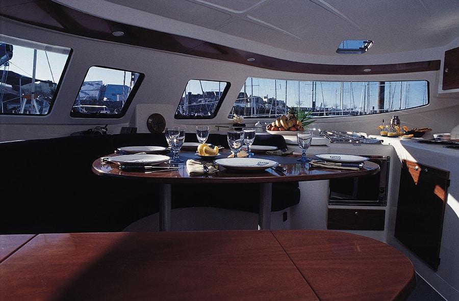athena 38 catamaran interior