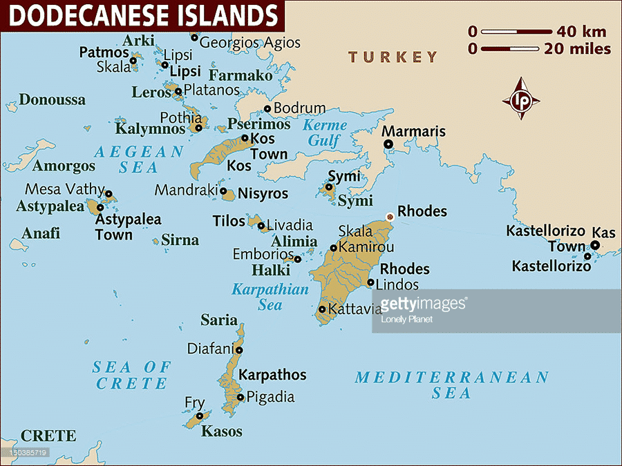 Dodecanese Islands sailing route
