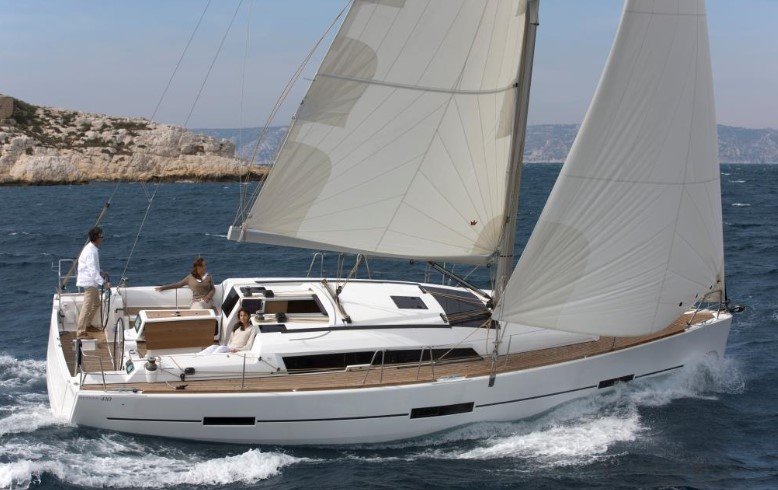 Dufour 410 Grand Large sailing in Malta