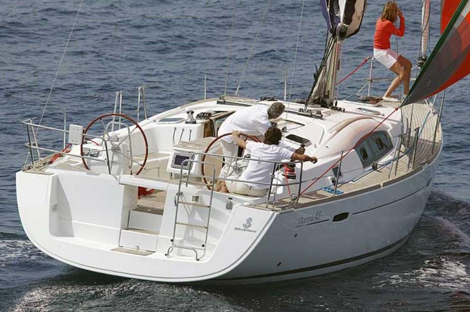 friends sailing Beneteau Cyclades 43.4