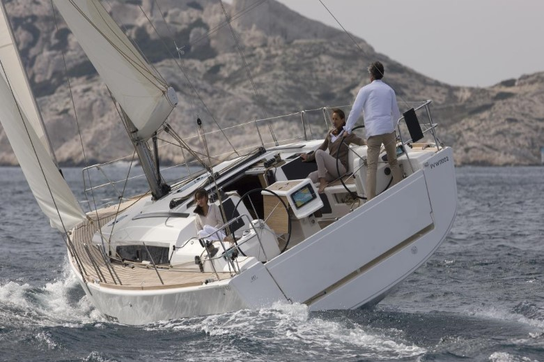 friends sailing the Dufour 410 Grand Large in Malta