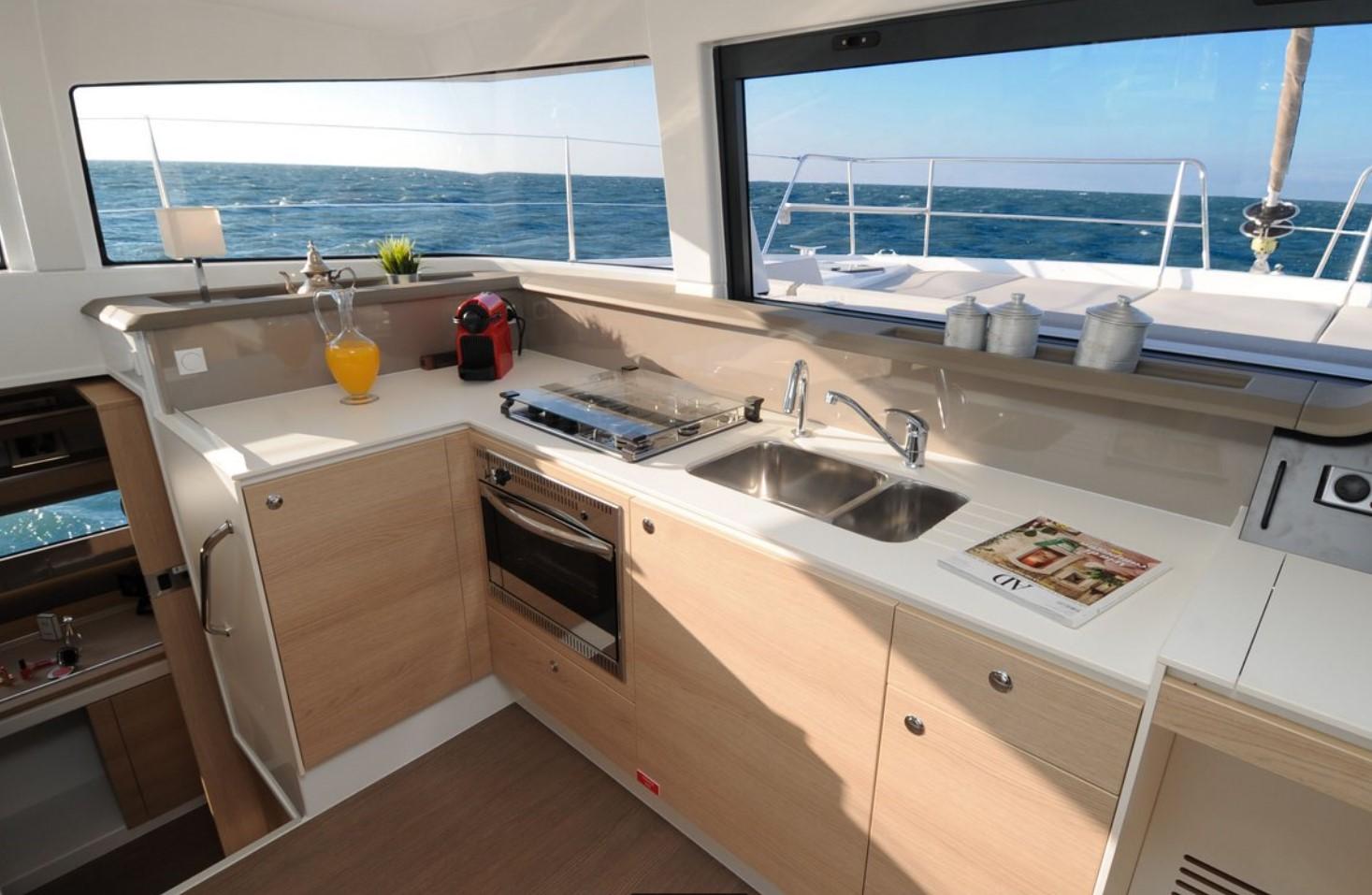 Lagoon 380 kitchen
