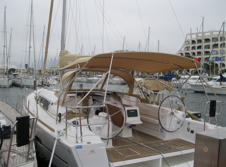 Dufour 410 Grand Large docked