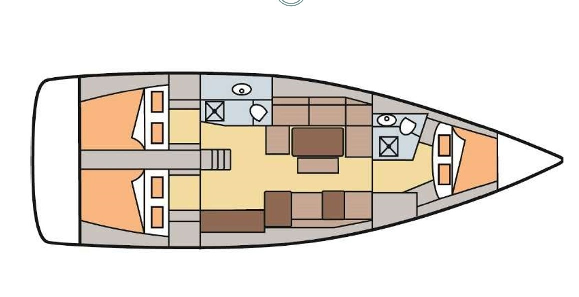 Dufour 410 Grand Large layout plan
