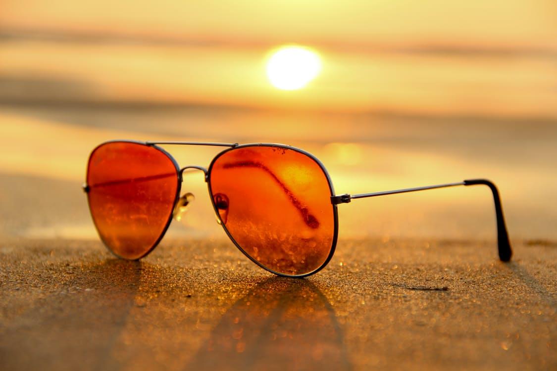 sunglasses on boat