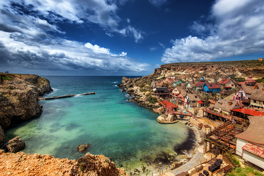 yacht chartering to Popeye Village, Malta