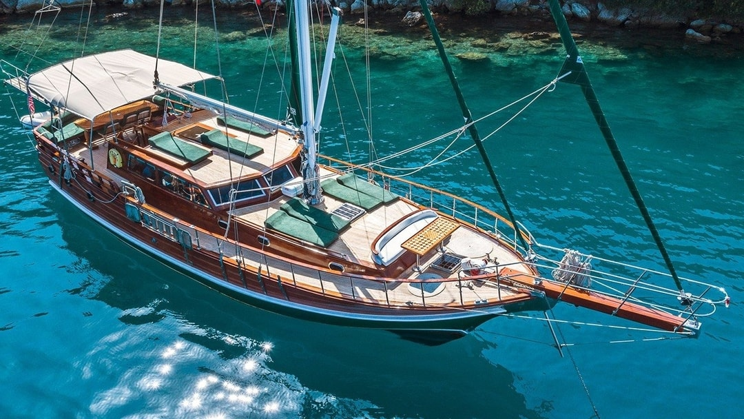 gullet sailing in the Agean
