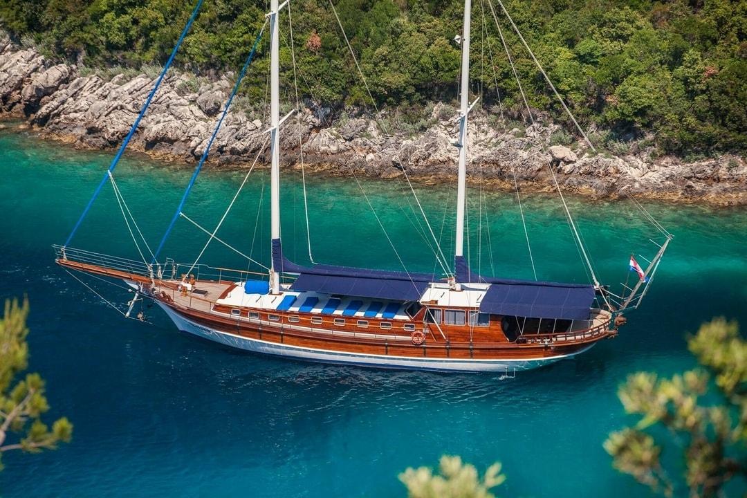luxury gullet in the Aegean