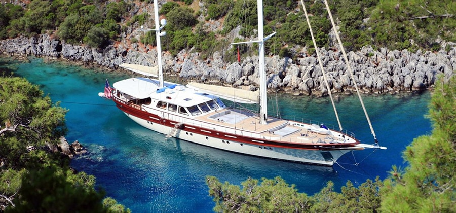 Gulet Yacht sailing in Turkey