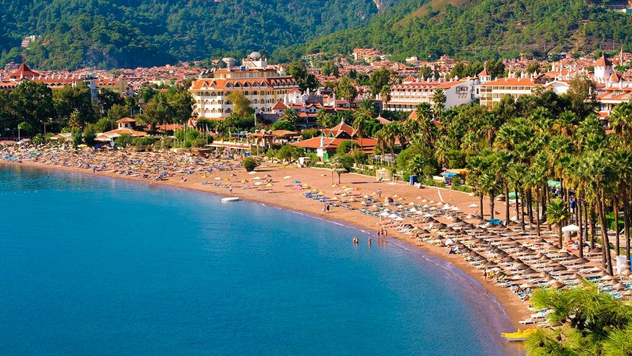 a beach in Marmaris Turkey