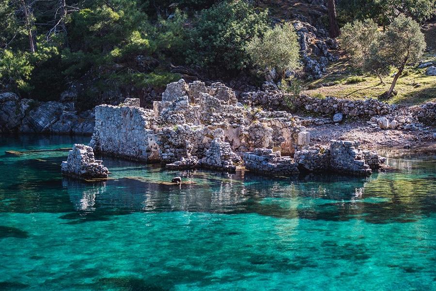 Bay of Manastir  in Turkey