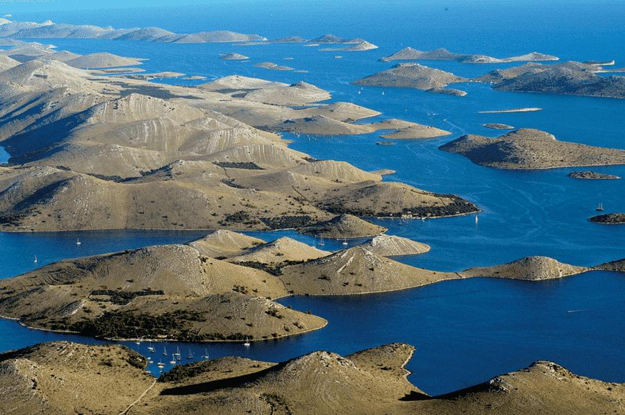 Kornati Islands, blue sea perfect destination for sailboat vacantion