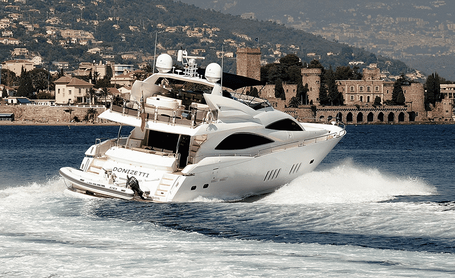 having fun on a yacht charter on Croatian coast