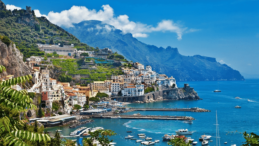 an amazing view of a small coastal town in Sicily Italy
