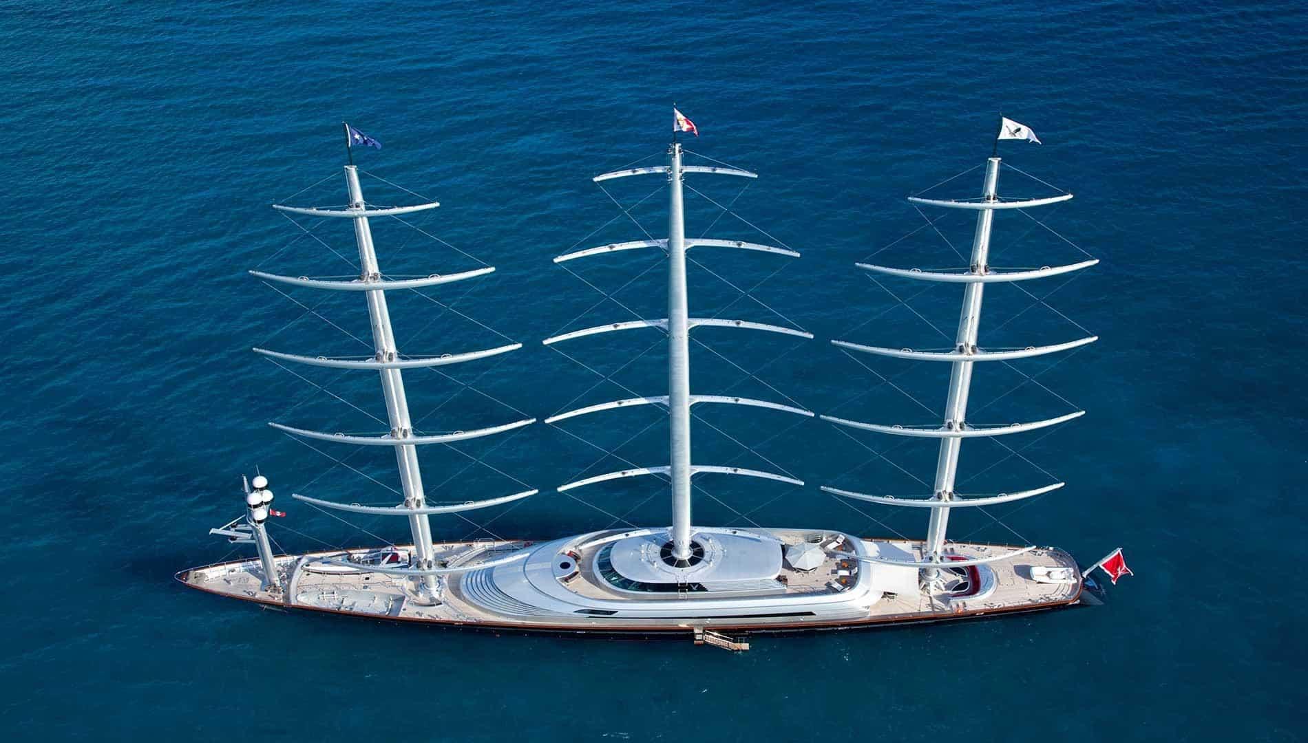 Beatuful Maltese Falcon luxury yacht sailing the high seas
