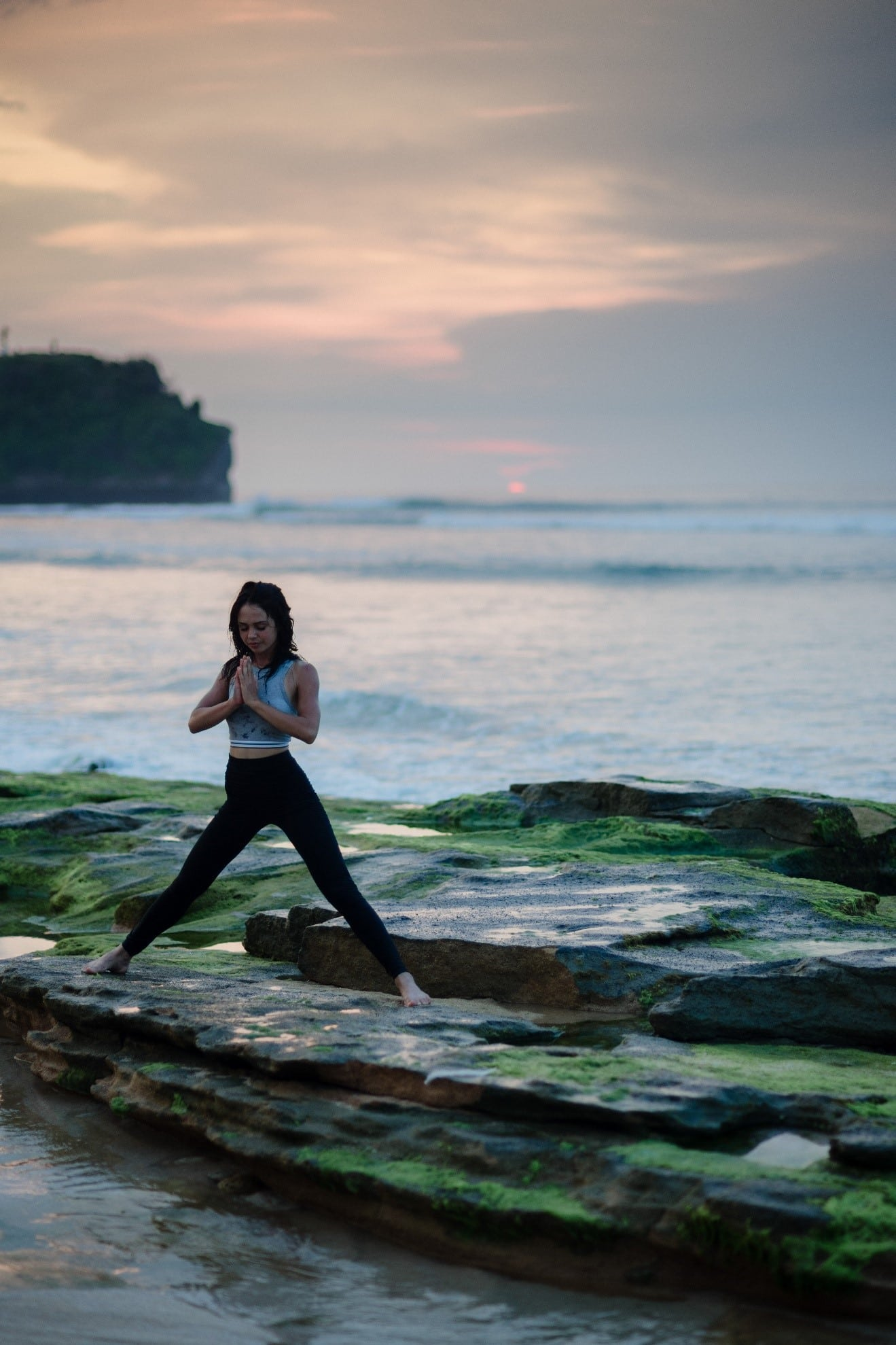 a girl doing yoga breathing exercises for healing benefits