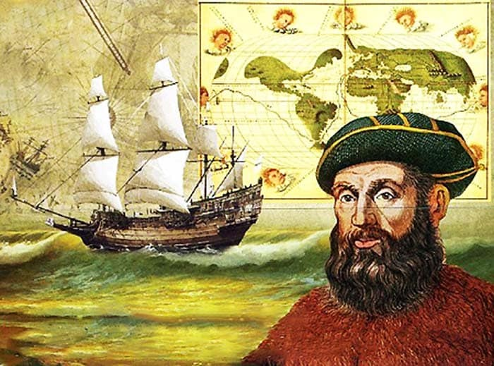 Fedinand Magellan first sailed around the world in a boat