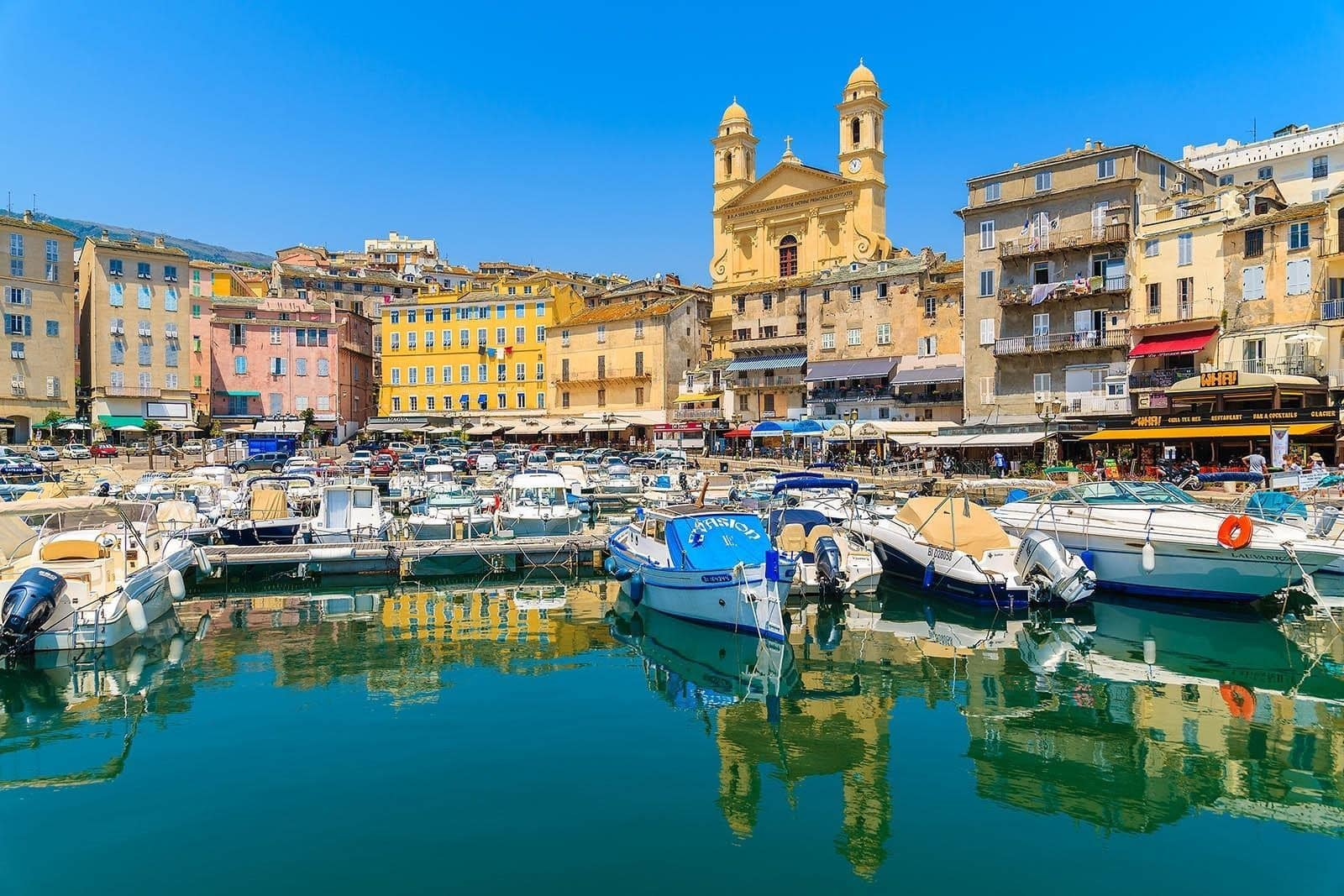 cute fishing port of Bastia along with its St Nicholas Cathedral is a must see in Corsica