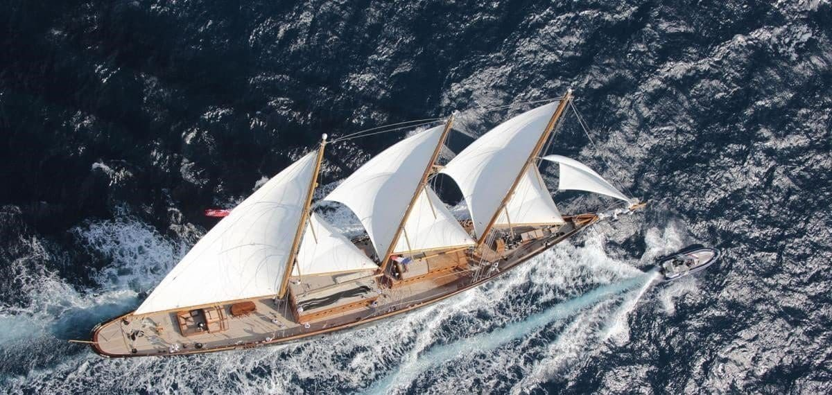 Creole yacht sailing the high seas