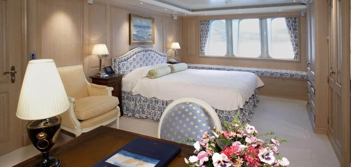 have a look at Bella Vita luxury yacht bedroom