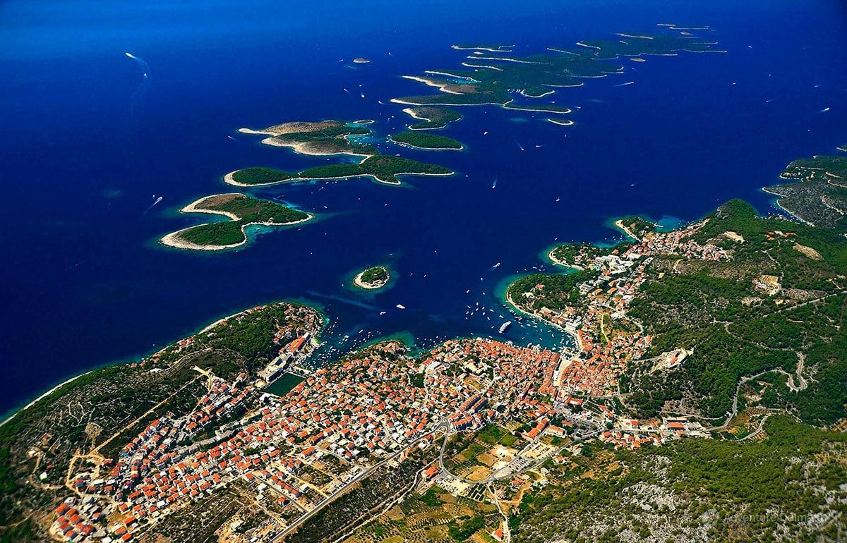 Vis to Hvar island Croatia