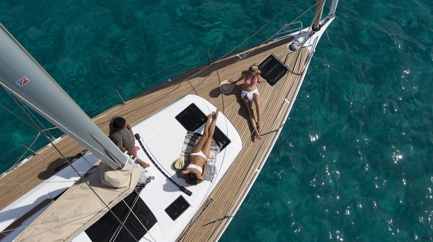people enjoy on deck on a Dufour GL 460