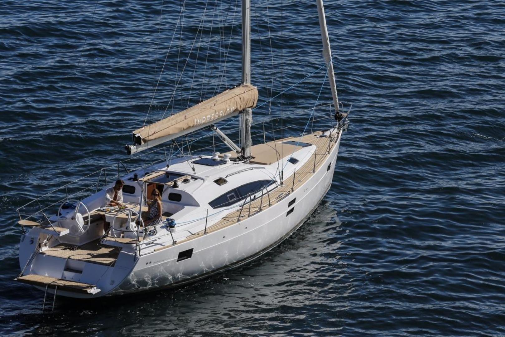 Elan Impression 45 sailing in Croatia