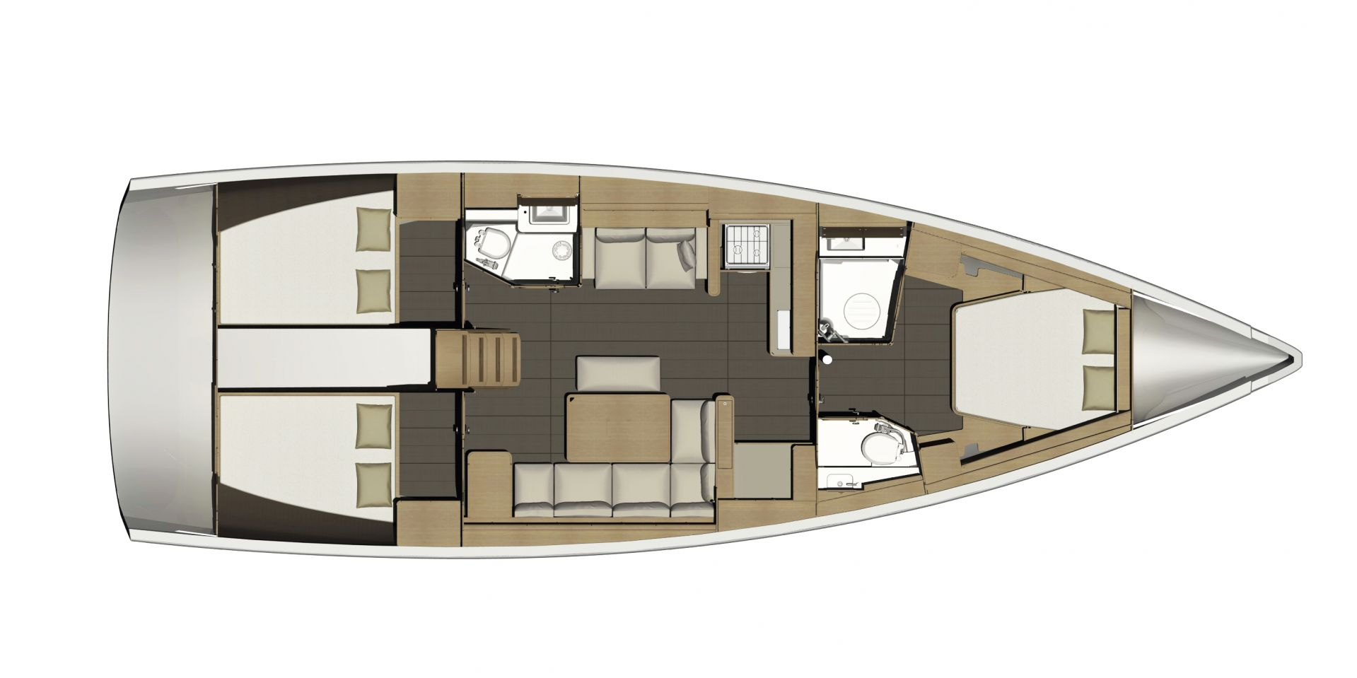 Dufour 46 GL layout