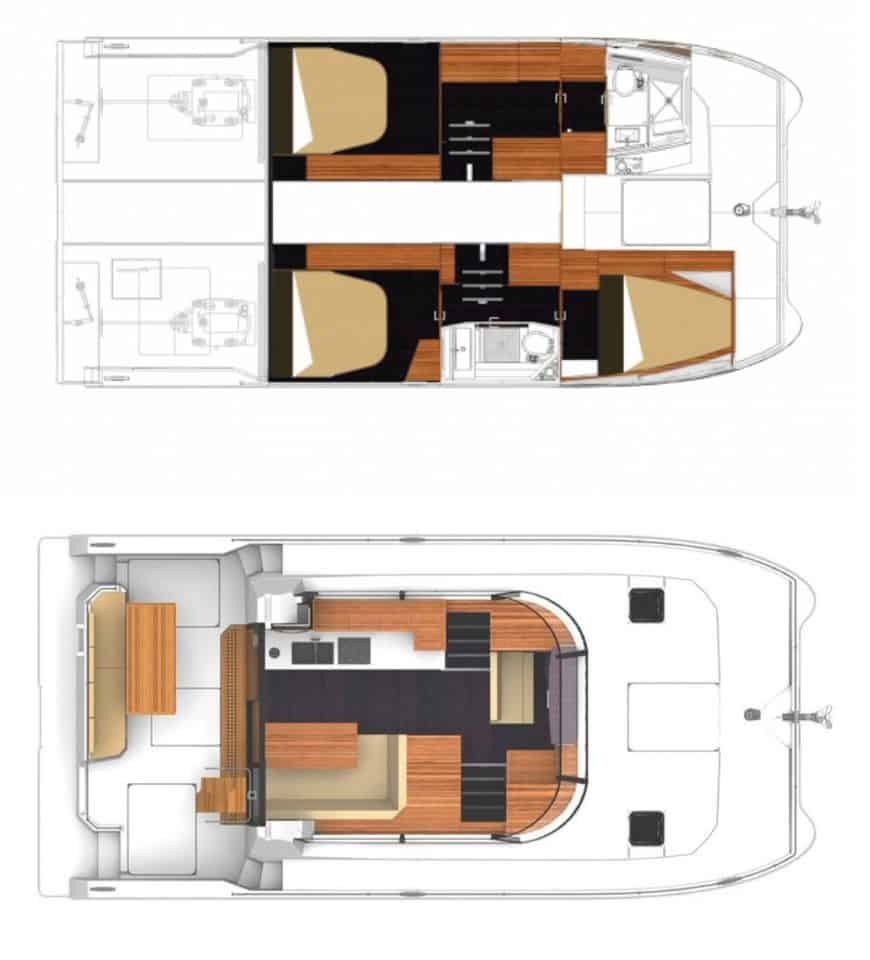 Fountaine Pajot MY 37 layout