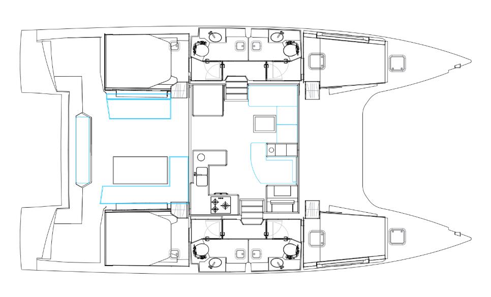 Nautitech 46 fly layout