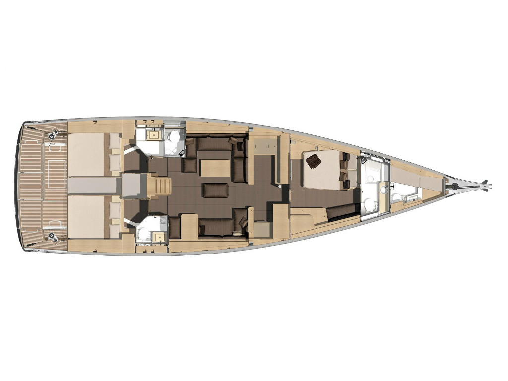 Dufour 560 GL layout