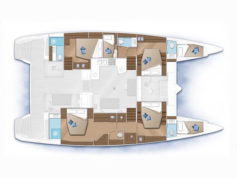 Lagoon 52 F layout