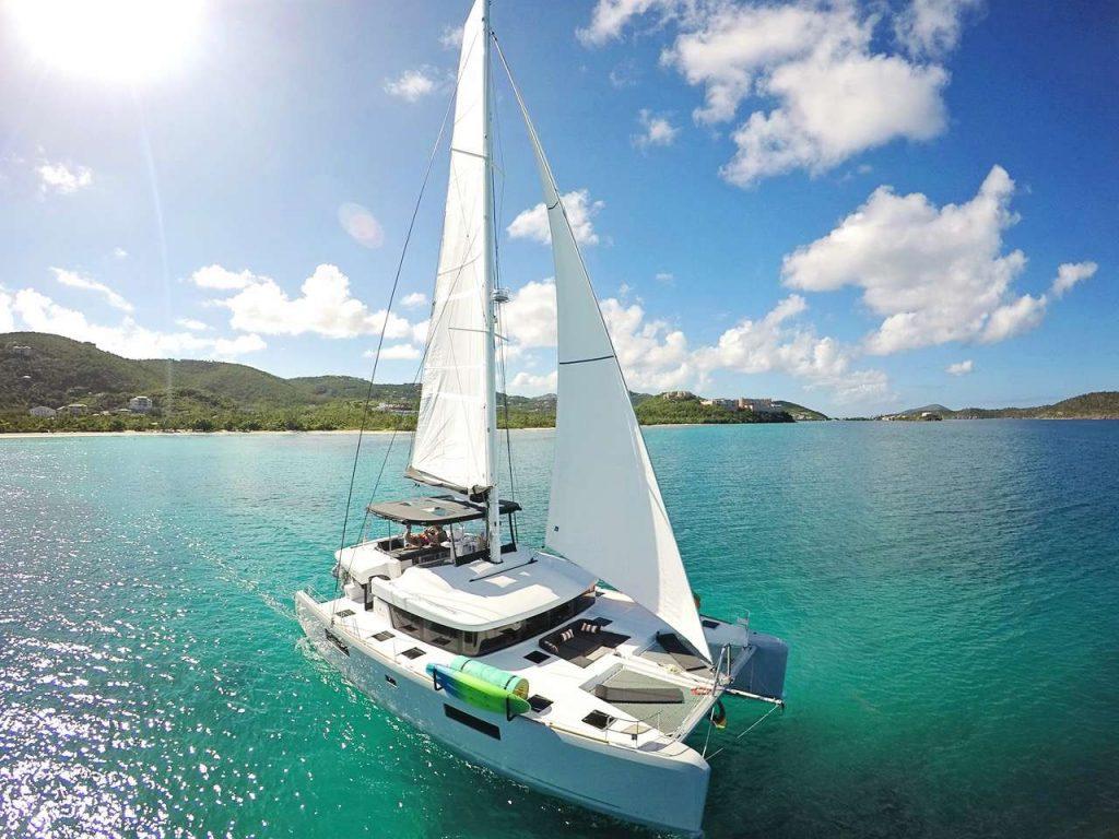 Lagoon 520 in Indonesia sailing