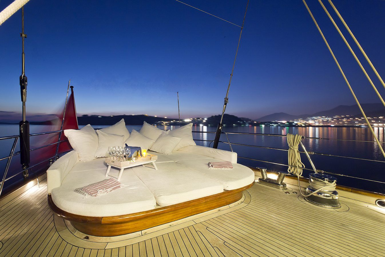 amazing luxurious deck of Regina gulet