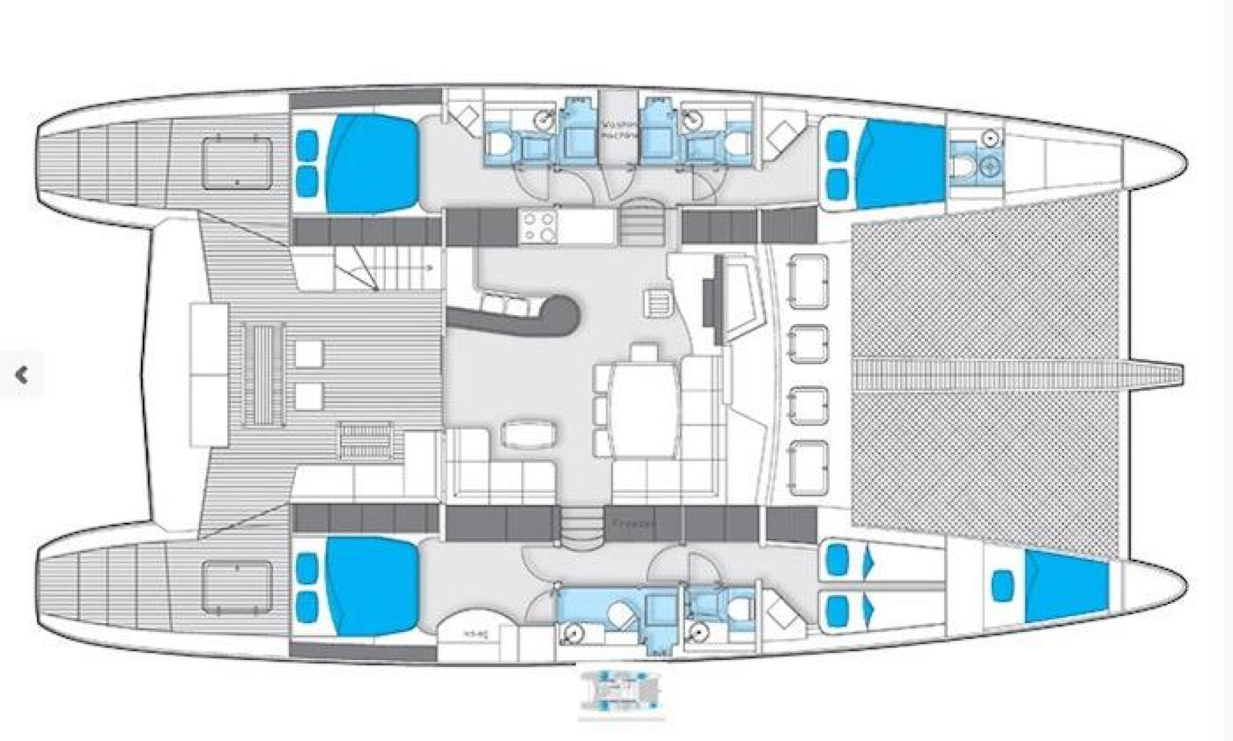 Sunreef 62 layout