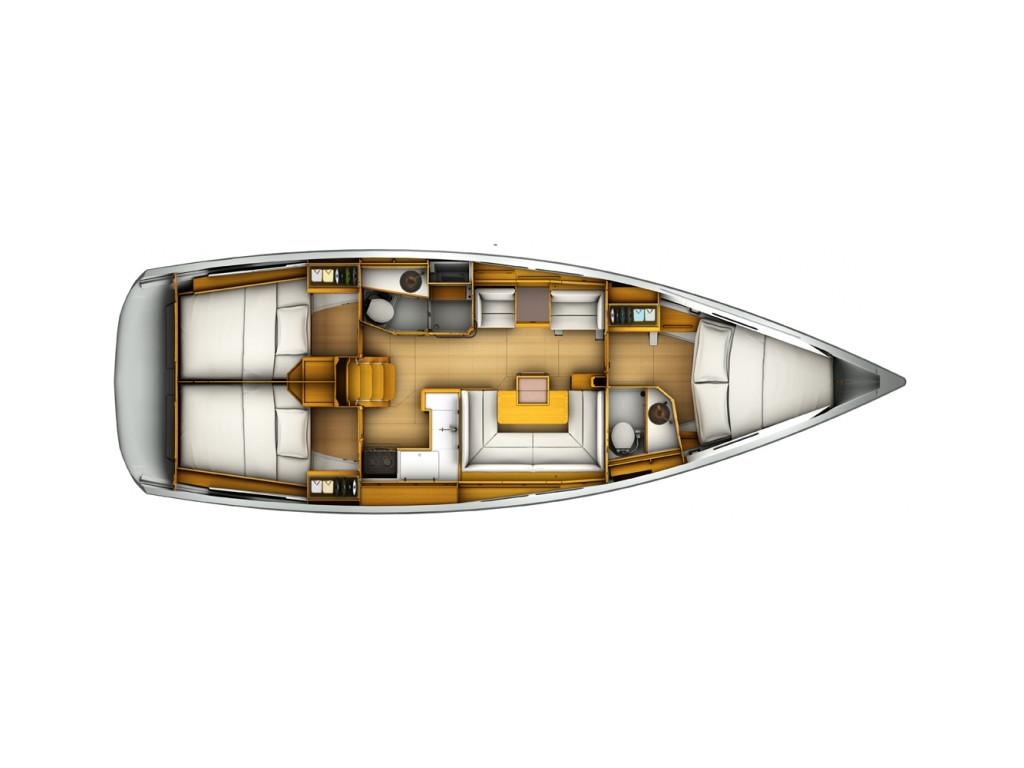 Sun Odyssey 419 layout