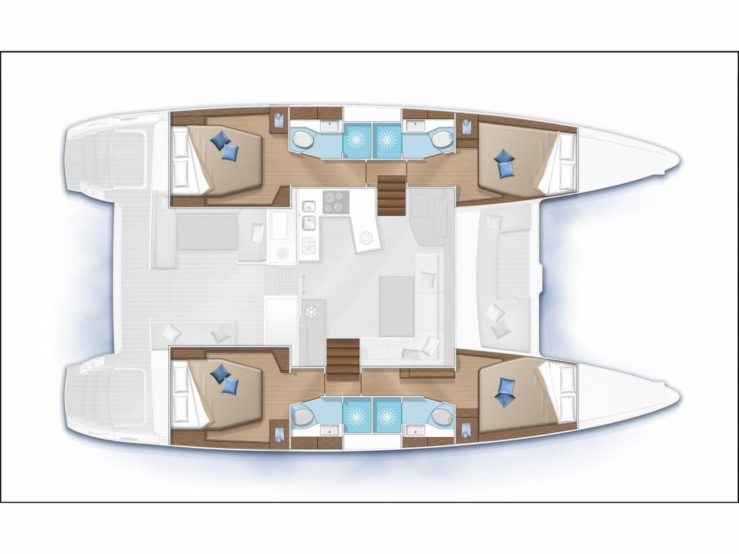 Lagoon 450 layout