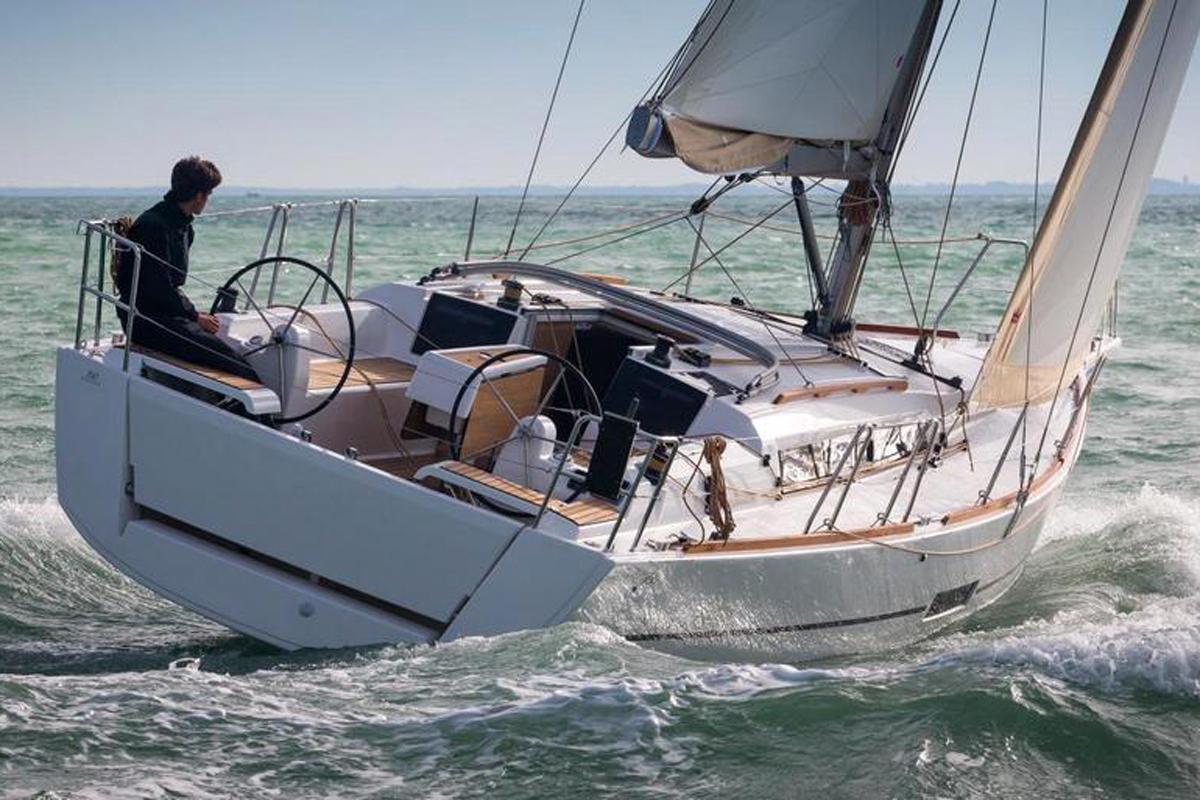 Dufour 412 sailing