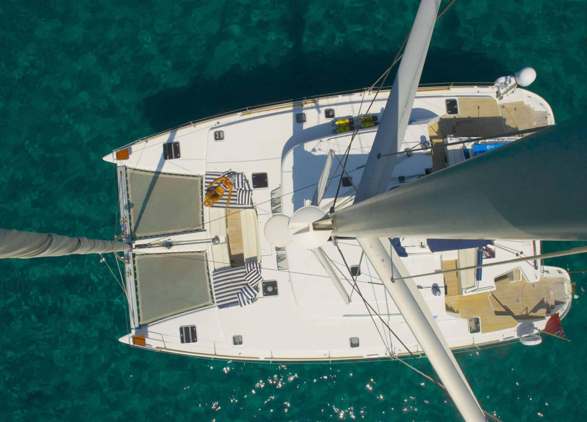 Lagoon 520 aerial