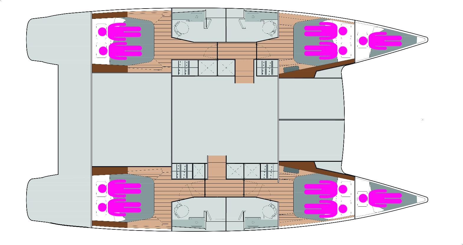 Nautitech Fly 46 layout