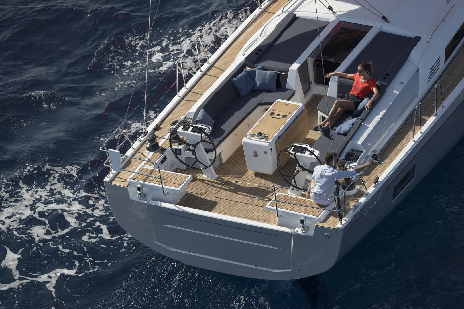 friends sailing Oceanis 51.1